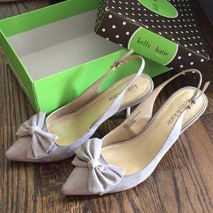 Very low bow light gray heel